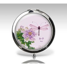 Personalized Compact Mirror Oriental Chinese Asian Flowers Purple... (320 UAH) ❤ liked on Polyvore featuring beauty products, beauty accessories, bath & beauty, black, hand & pocket mirrors, makeup & cosmetics and makeup tools & brushes