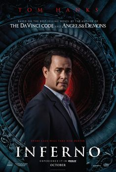 'Inferno' is the latest film based on the Dan Brown best selling Robert Langdon series, directed by Ron Howard it stars Tom Hanks, Felici. Streaming Movies, Hd Movies, Movies To Watch, Movies Online, Ron Howard, Love Movie, Movie Tv, Hits Movie, Robert Langdon