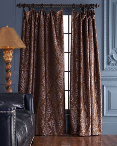 I like the curtain rod and the way the curtains hang