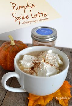 Pumpkin Spice Latte with Pumpkin Spice Whip Cream