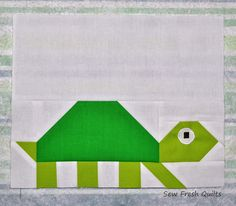 Sew Fresh Quilts: Elephant Parade - Week 4 - Turtle