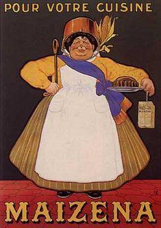 """Ancienne publicité """"Maïzena"""" par Oge (1920)"""