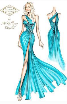 Dress Design Drawing, Dress Design Sketches, Fashion Design Drawings, Fashion Sketches, Atelier Versace, Fashion Illustration Chanel, Fashion Drawing Dresses, Fashion Figures, Fashion Sketchbook