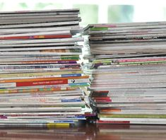 turning hoarded magazines into bound books - via Centsational Girl