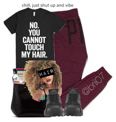 """""""Untitled #45"""" by brii07 ❤ liked on Polyvore featuring Victoria's Secret PINK and NIKE"""