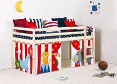 Emeletes ágy RANDERS függönnyel natúr  086db84039