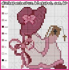 Beaded Cross Stitch, Cross Stitch Charts, Cross Stitch Embroidery, Cross Stitch Patterns, Frozen Cross Stitch, Cross Stitch For Kids, Stitch Doll, Crotchet Patterns, Hand Embroidery Patterns