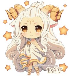 Chibi Aries by *DAV-19 on deviantART