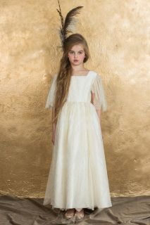 Golden Alexandra Dress made of Silk Taffeta and Lace Aristocrat Kids Fall 2015 Collection Pre-order. Ships no later than June 15th.