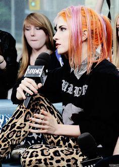 Hayley Williams 2013 #Pink Orange hair