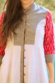 Kurthis by etta Salwar Designs, Kurta Designs Women, Dress Neck Designs, Blouse Designs, Indian Attire, Indian Wear, Indian Dresses, Indian Outfits, Kurta Patterns
