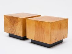 DesimoneWayland — Milo Baughman Cube Tables USA, 1970s / Pair of...