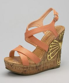 Look what I found on #zulily! Coral Alexa Wedge Sandal by I Heart Footwear #zulilyfinds