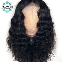 Glueless Lace Front Human Hair Wigs For Black Women Density Brazilian Hair Wigs With Baby Hair Remy Hair FlowerSeason Brazilian Lace Front Wigs, Brazilian Hair Wigs, Full Lace Front Wigs, Remy Hair Wigs, Human Hair Lace Wigs, Curly Wigs, Cheap Human Hair, Bleached Hair, Wigs For Black Women