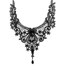 Fashion Goth Necklaces For Women 2016 Beauty Girl Handmade Jewerly Retro Vintage Lace Necklace Collar Gothic Choker Necklace