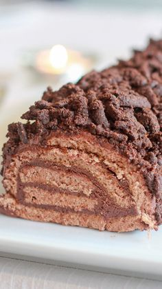 Chocolate Log with Thermomix - Trend Christmas Cake 2019 Chocolate Thermomix, Dessert Thermomix, Christmas Food Ideas For Dinner, Christmas Desserts, Christmas Log, Christmas Cakes, Gourmet Recipes, Cookie Recipes, Dessert Recipes