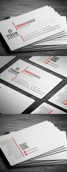 Creative Corporate Business Card #businesscards #printready #psdtemplates