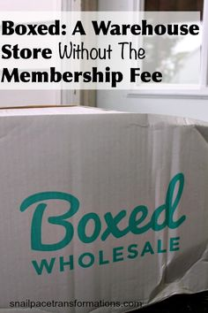 Boxed an online wholesale store without the membership fee making Boxed a great way to save money on groceries as well as time spent shopping.