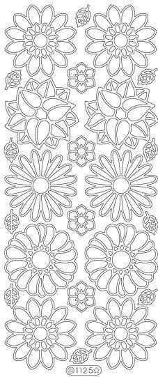 Starform Peel Off Stickers  1125  Flowers  Black by PNWCrafts, $2.10