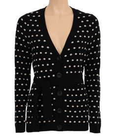 Look at this Black & White Polka Dot Wool-Blend Cardigan on #zulily today!
