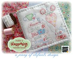 TUTORIAL - bonus Splendid Sampler needle-book! (Jenny of ELEFANTZ)