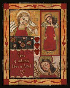 Love is Kind Sampler 8x10 print by Teresa Kogut by cre84life, $15.00