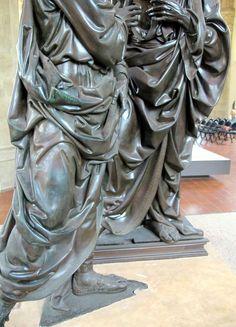 Verrochio -Museo di Orsanmichele,  Incredulità di s. Tommaso  - Il panneggio