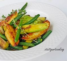 stuttgartcooking: Zucchini-Bohnen-Pfanne in Ligurien zubereitet