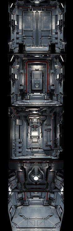 ArtStation - Doom elevetor redesign, Evgeny Park