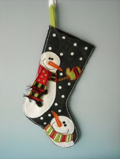Snowman Felt Christmas Stocking by Holidazzle on Etsy Christmas Sewing, Homemade Christmas, Christmas Snowman, Winter Christmas, Christmas Holidays, Felt Snowman, Snowmen, Christmas Projects, Felt Crafts
