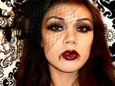 Sexy Vampire halloween makeup look. DIY   Halloween