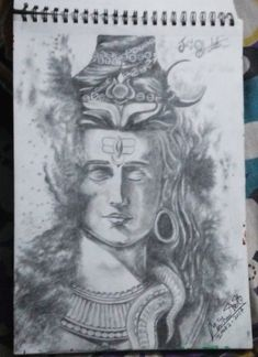 bholenath by MANTHANART Pencil Sketches Easy, Pencil Drawings, A3 Size, Indian Gods, Deviantart, Illustration, Illustrations, Pencil Art