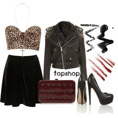 """Going Out Outfit: Topshop 80s 90s Grunge Taylor Momsen Style Look"" by sianvictoria on Polyvore"
