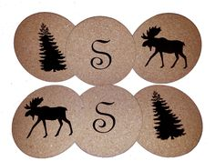 Coasters are a great gift idea! Vinyl cut with the Silhouette Cameo!
