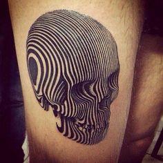 Skull black lines tattoo | Tattoomagz.com › Tattoo Designs / Ink-Works Gallery › Tattoo Designs / Ink Works / Body Arts Gallery