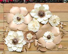 Paper Flower Backdrop Wedding Centerpiece Giant Paper