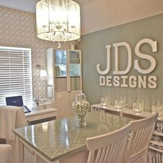 Home Office Inspiration Sewing Rooms Trendy Ideas Sewing Room Design, Craft Room Design, Sewing Rooms, Design Room, Design Bathroom, Design Kitchen, Sofa Design, Craft Space, Home Office Design