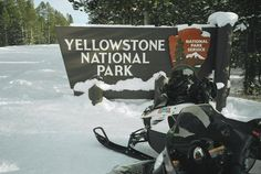 Go snowmobiling in Yellowstone