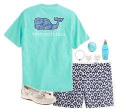 """""""Boating"""" by lucynew44 ❤ liked on Polyvore featuring J.Crew, Vineyard Vines, Tiffany & Co., Organix, Eos and Sperry"""