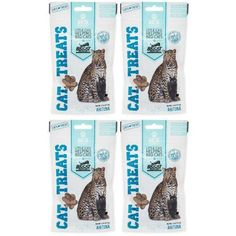 Big Cat Rescue Freeze Dried Ahi Tuna Treats for Cats, 4 Pack of 1.1 oz packages
