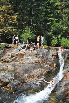 Natural waterslide, Opal Creek Trail, 2 1/2 hours from Portland, OR