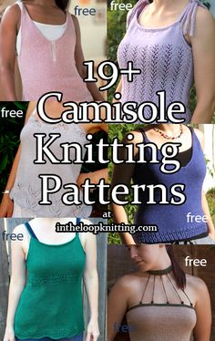 Knitting Patterns in for Camisoles and Tanks. Most patterns are free. – Knitting patterns, knitting designs, knitting for beginners. Knitting Basics, How To Start Knitting, Knitting Kits, Knitting For Beginners, Lace Knitting, Knitting Projects, Vogue Knitting, Free Knitting Patterns For Women, Knitting Designs