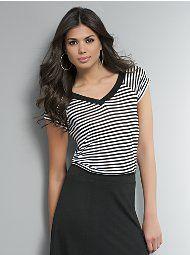 Striped Trapeze T-Shirt
