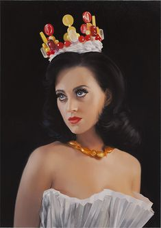 Will Cotton, Katy, 2010, oil on linen, 34 x 24 inches.