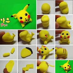 Pikachu made of clay