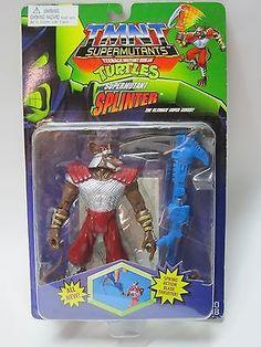 1994 PLAYMATES TMNT TEENAGE MUTANT NINJA TURTLES SUPERMUTANTS SPLINTER MOC