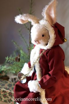 The work of Lori Ann Corelis - The Spotted Hare - See more at the From Our Hands folk art and antique show - November 2019 in Peninsula, Ohio! Merry Christmas To All, A Christmas Story, Christmas Craft Projects, Xmas Crafts, Christmas Decor, Christmas Ideas, Dolly Doll, Rabbit Art, Bear Doll