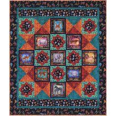 Quilting Treasures Fabrics Serengeti Dan Morris Bush Walk Quilt Kit | Quilt Kit
