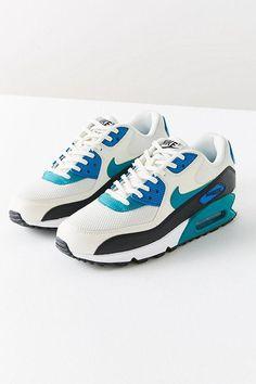 sale retailer ed8ee 314e2 NIKE TEAL COLORBLOCK SNEAKERS Air Max 90, Nike Air Max, Color Blocking,  Trainers