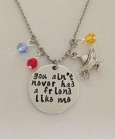Disney inspired Aladdin necklace You ain't by BellaRayneDesigns